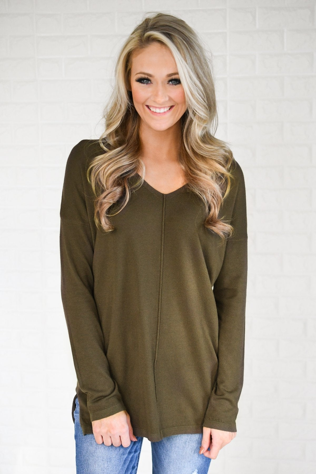 Forever Yours Sweater - Deep Olive