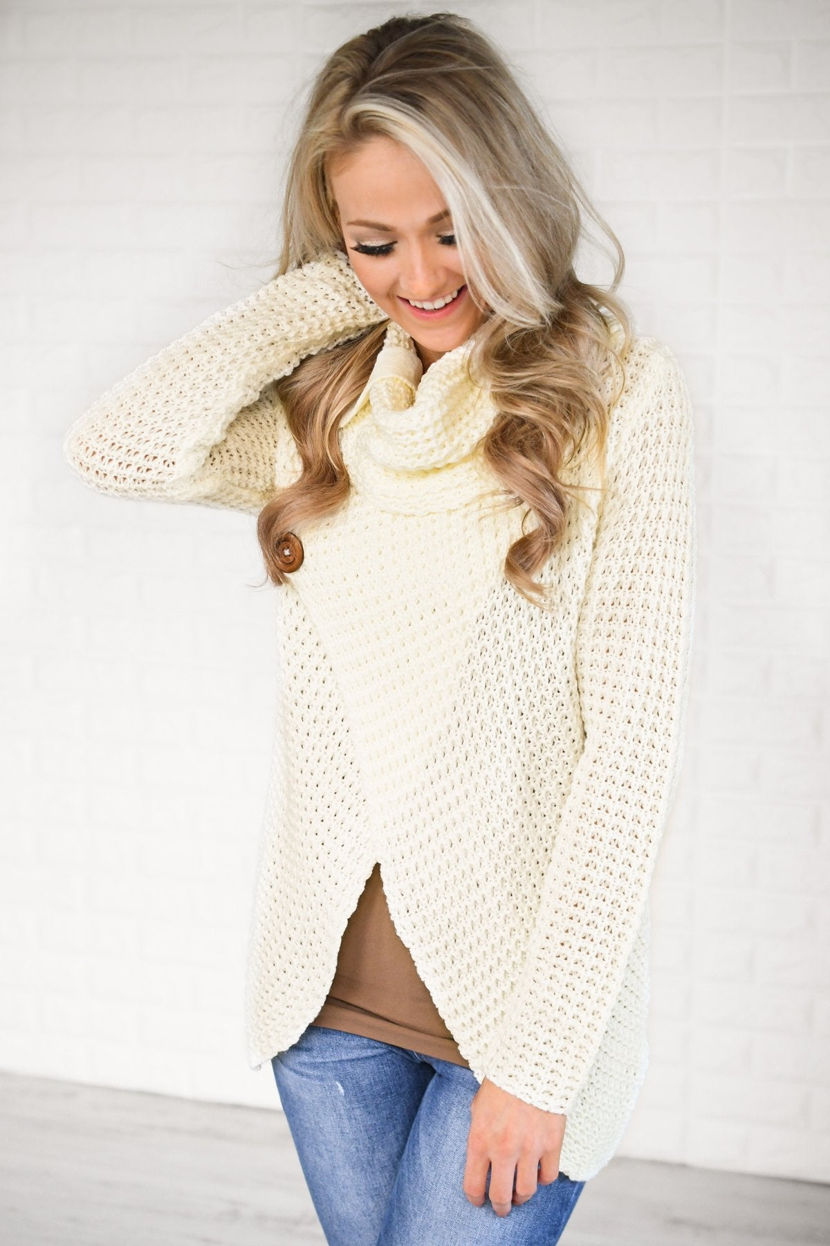 Give Me a Reason Button Sweater - Ivory