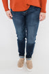 Sneak Peek Jeans- Becky Dark Wash