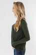 If You Say So V-Neck Wrap Top- Hunter Green