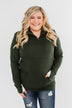 Pulse Exclusive Quarter Zip Pullover- Dark Olive