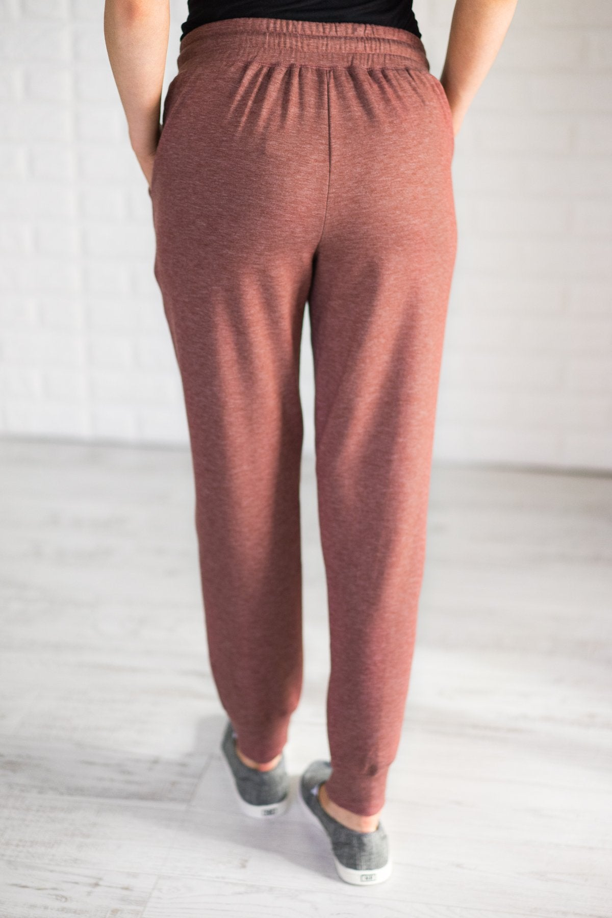 Coziest Joggers Ever ~ Rust Red