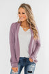 Magic Moments Drop Shoulder Cardigan- Dark Lavender