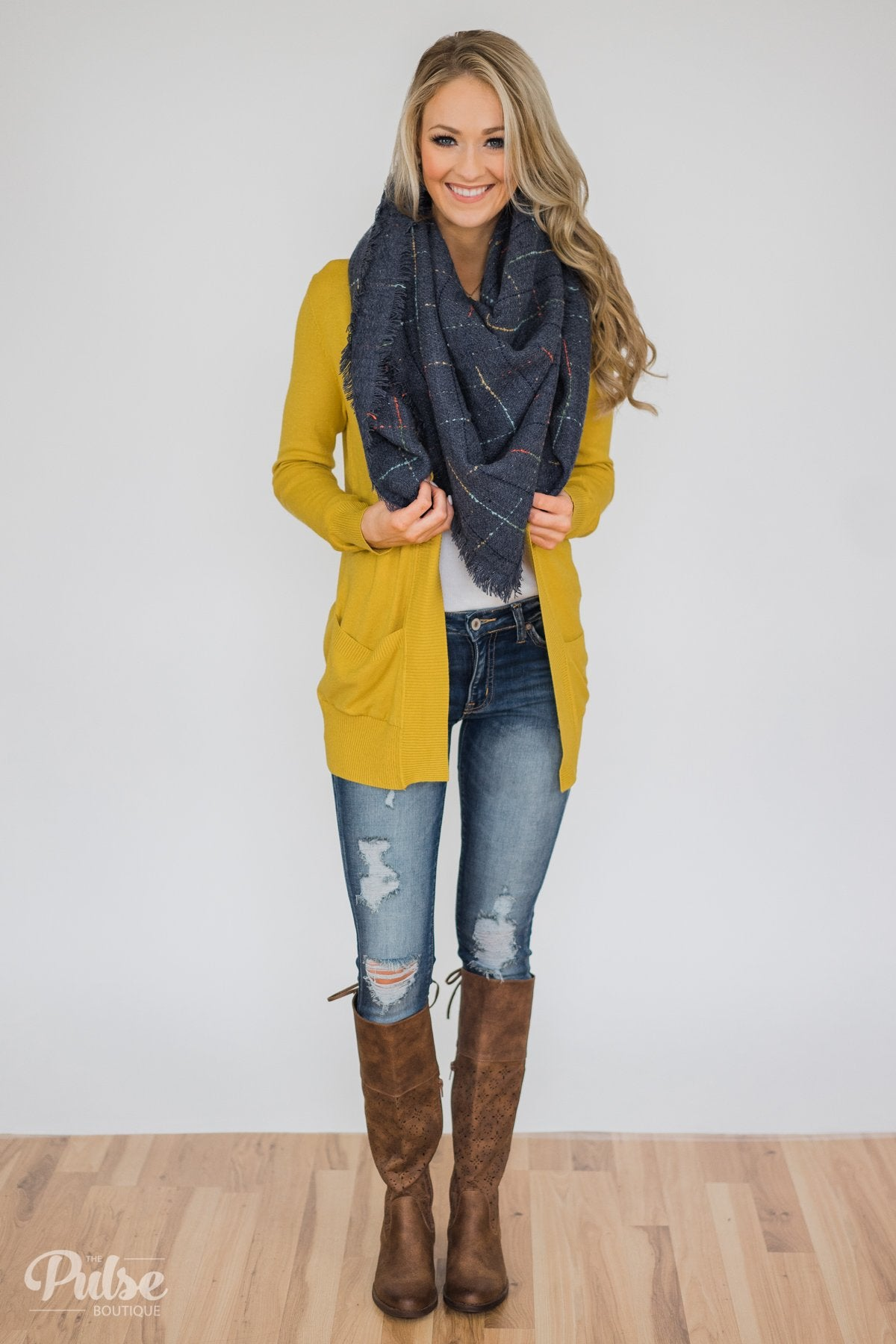 Essential Cardigan- Yellow