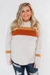 A Great Time Striped Hoodie- Oatmeal, Orange, & Rust