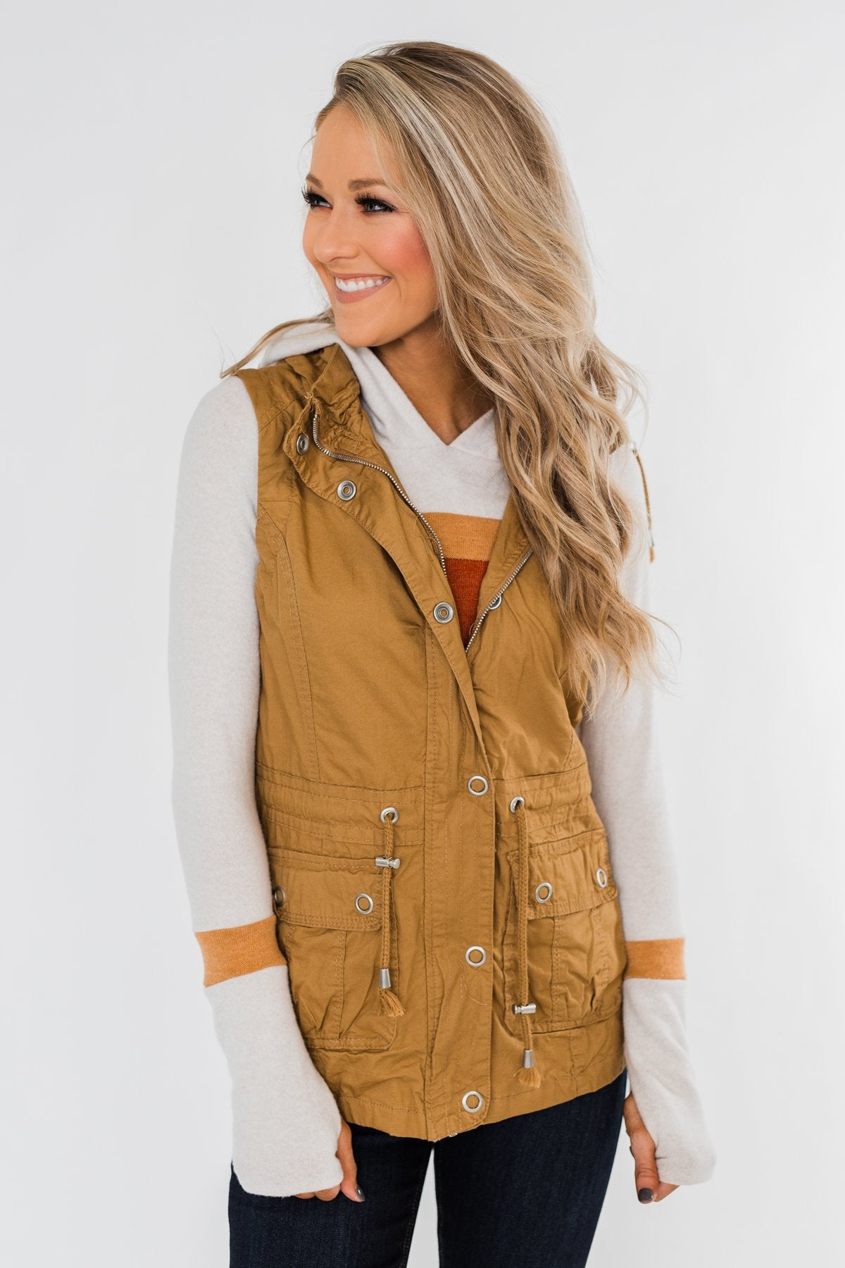 Season Essential Vest- Burnt Mustard