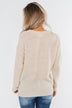 Today Is The Day Knit Sweater- Cream