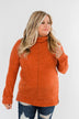Thinking About You Cowl Neck Sweater- Burnt Orange