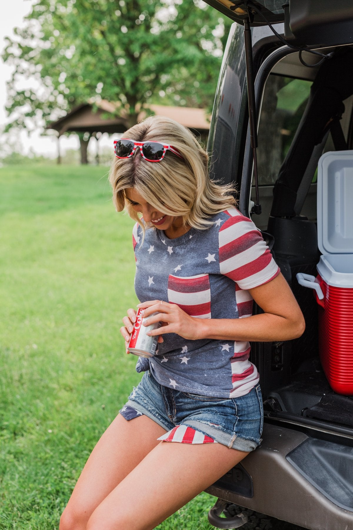 Stars & Stripes Forever Pocket Top