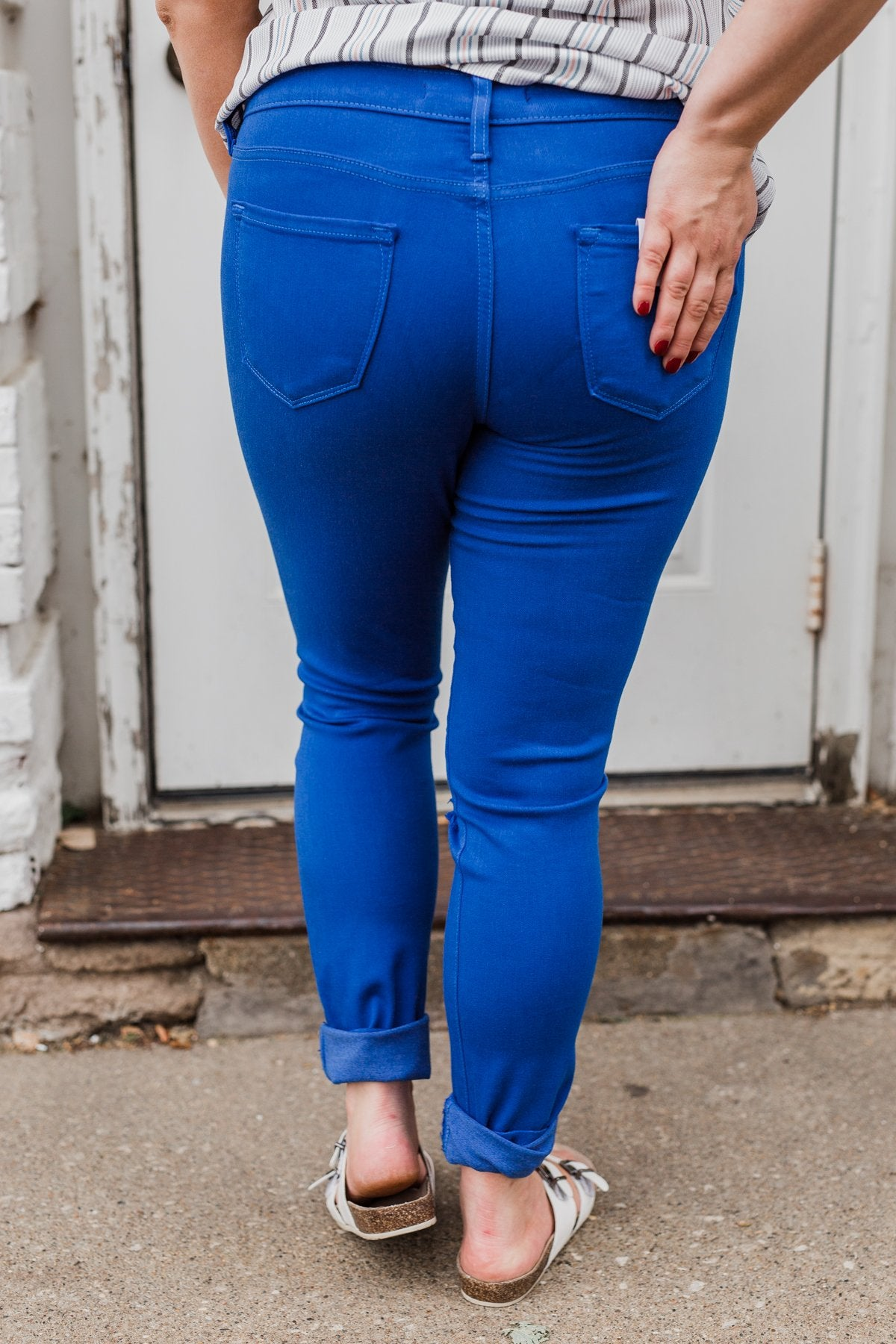 KanCan Colored Skinny Jeans- Royal Blue