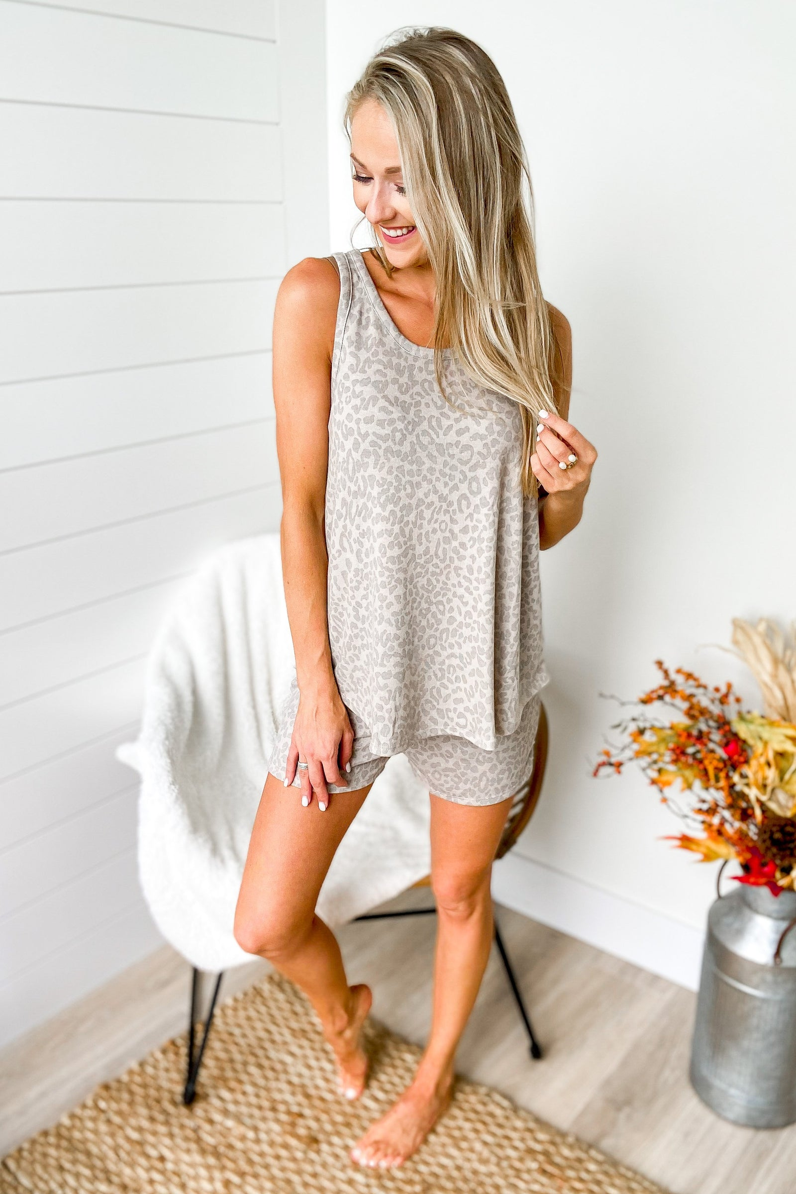 Discover Your Journey Leopard Tank Top- Taupe