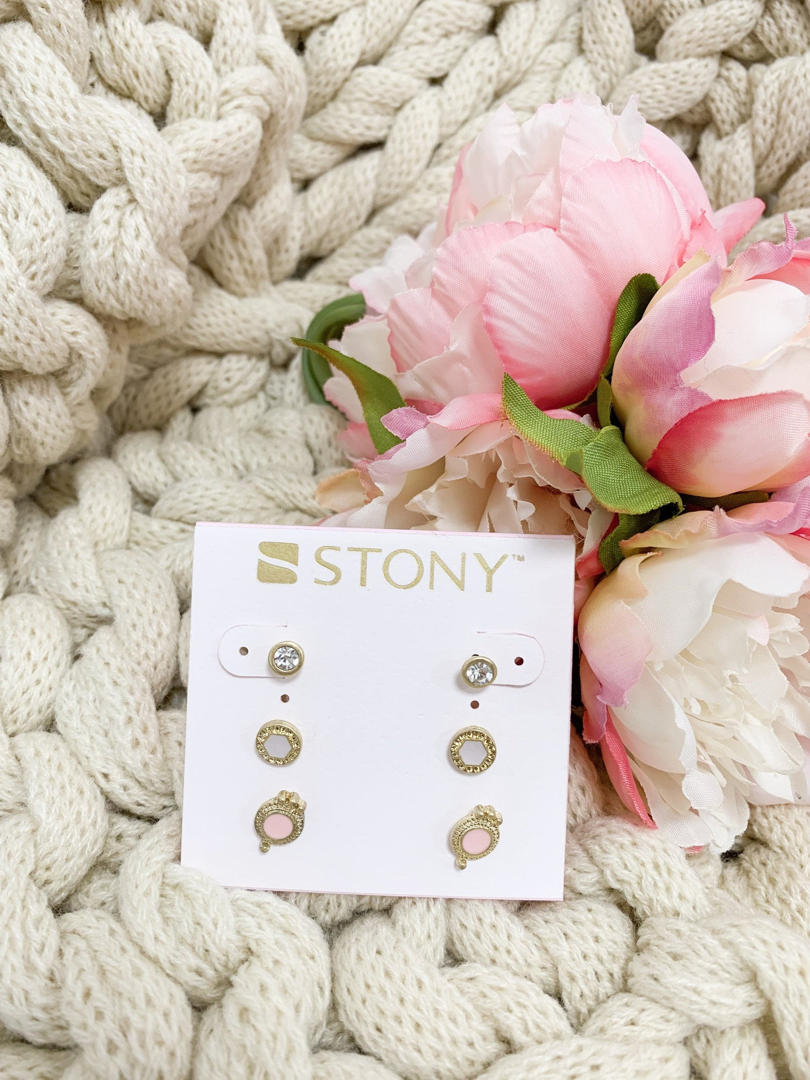 Stud Earring Set- Gold
