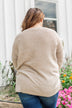 Reaching Out To You Knit Sweater- Light Taupe