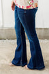 KanCan Button Fly Flare Jeans- Mandy Wash