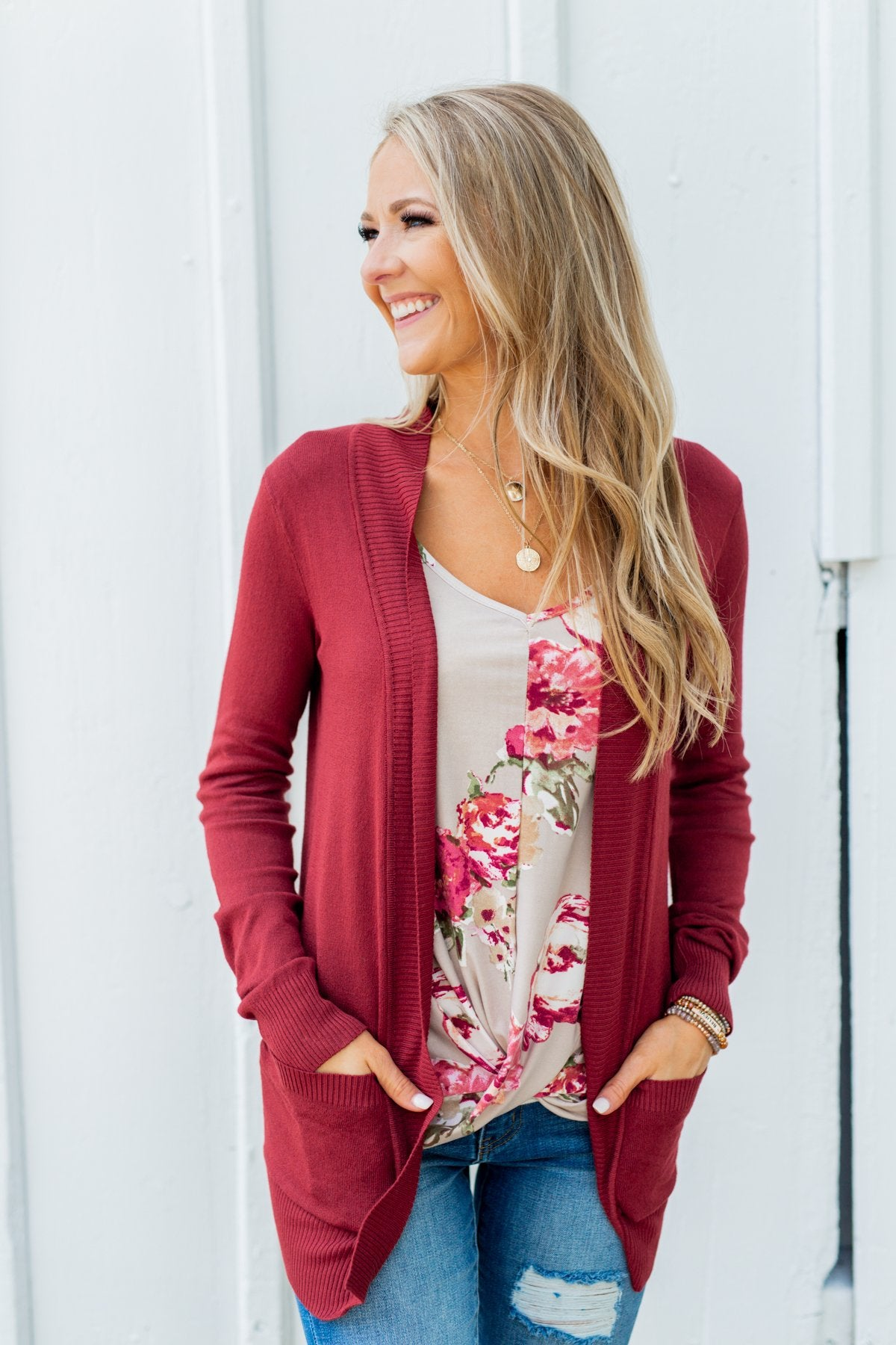 Everywhere I Go Floral Twist Tank Top- Taupe