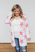 Shoot For The Stars Knit Cardigan- Ivory & Pink
