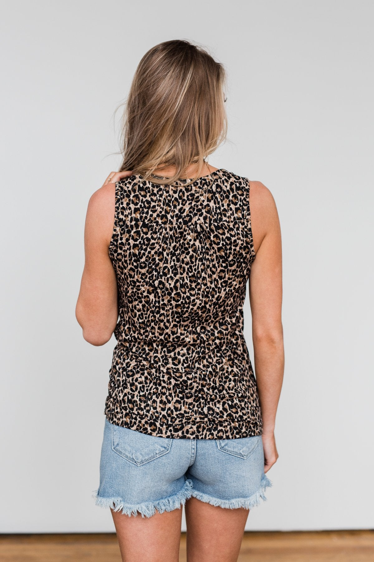 Just Passing Through Leopard Tank Top- Black & Brown