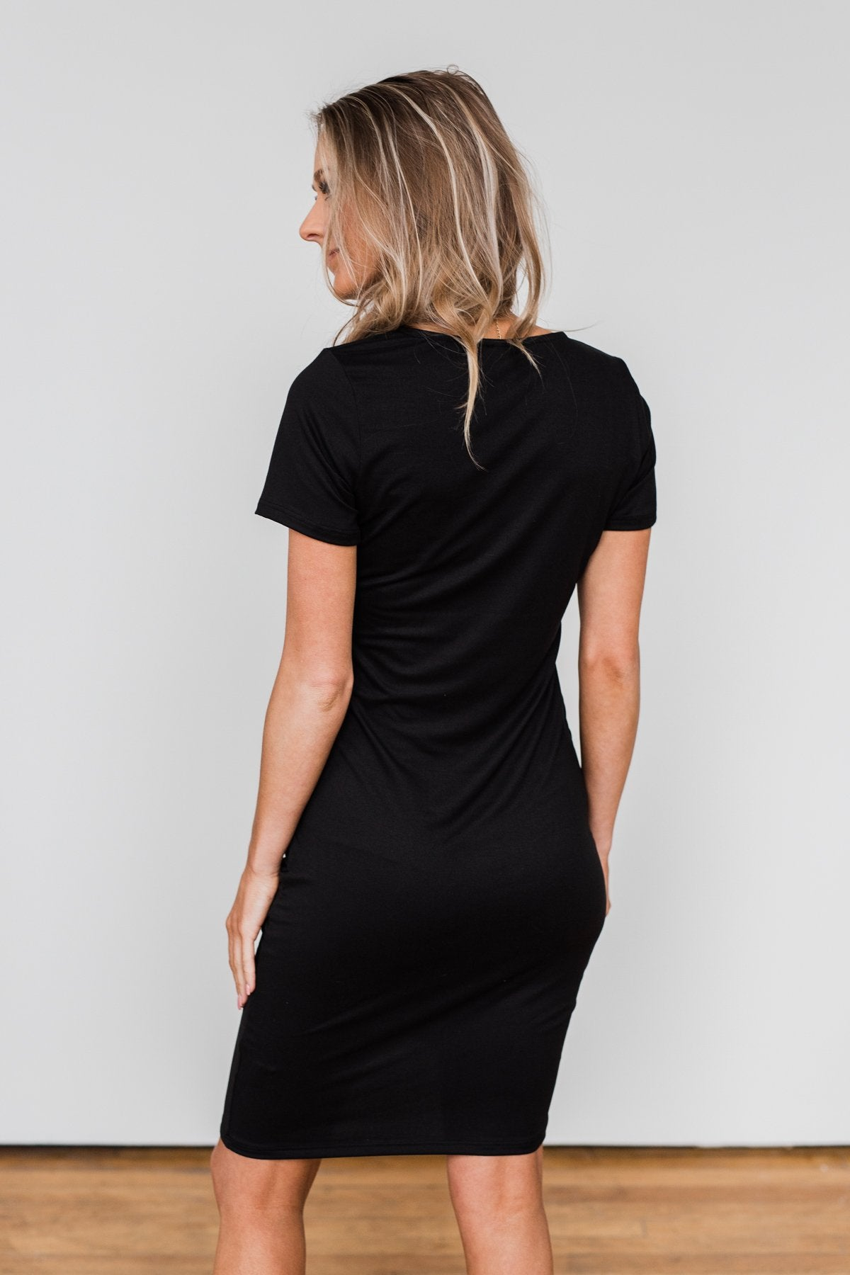 Ready For This Cinched Dress- Black