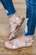 Blowfish Granola-B Sandals- Mauve & Blush