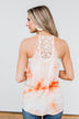 Sparks Fly Tie Dye Tank Top- Orange & Ivory