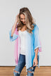 Memories Of Us Colorful Kimono- Blue & Pink