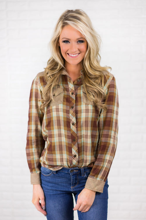 Go-To Plaid Button Up