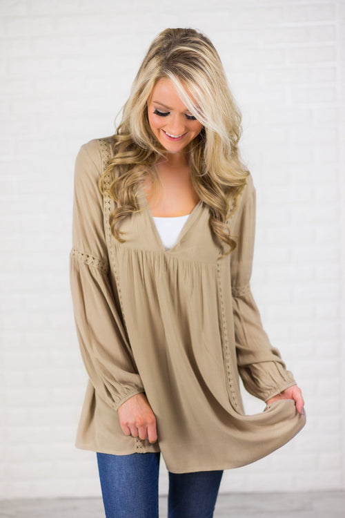 My Favorite Tunic Dress - Wheat