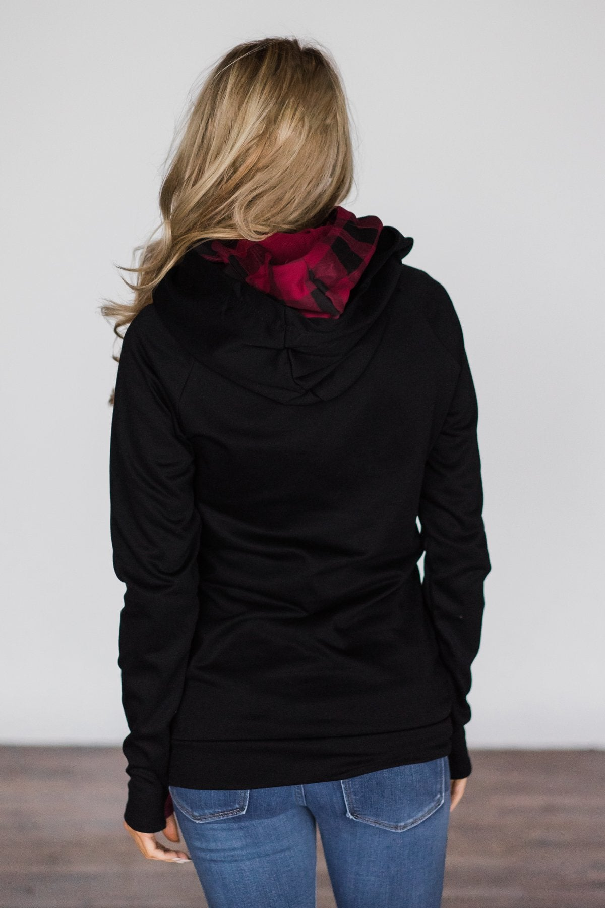 Exclusive Black and Plaid Ampersand DoubleHood