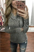 All This Time Zipper Pullover Top- Heather Grey