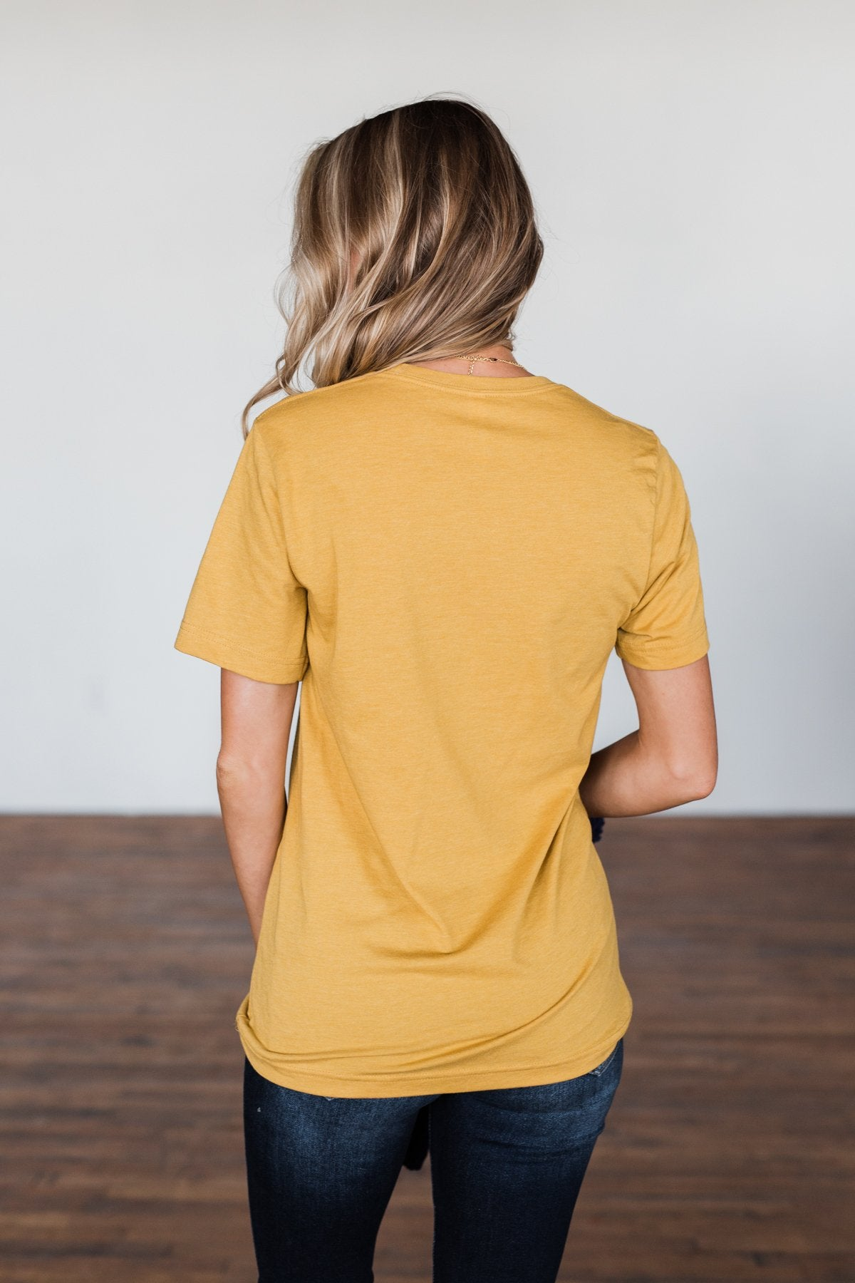 """Pumpkin Is The Spice Of Life"" Graphic Tee- Mustard"
