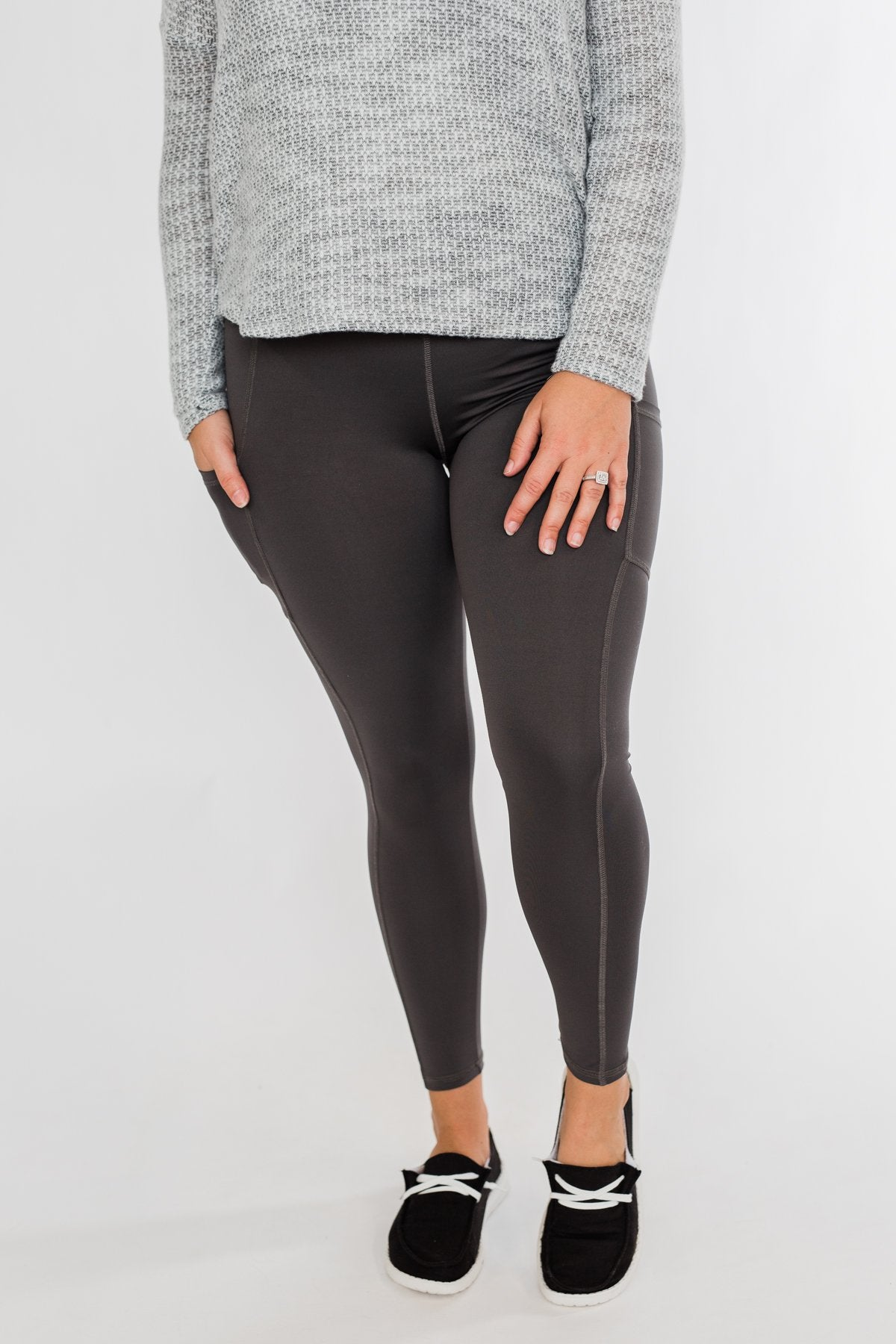 Pulse Basics Athleisure Leggings- Charcoal