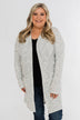 In Sync With You Lightweight Cardigan- Light Heather Grey