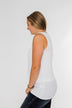 Good Together Twist Tank Top- White
