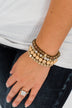 Stunning Beaded Bracelet Set- Neutral & Gold