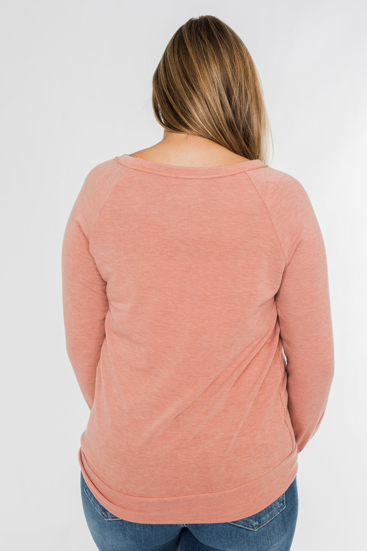 Come Along With Me Pullover Top- Peach