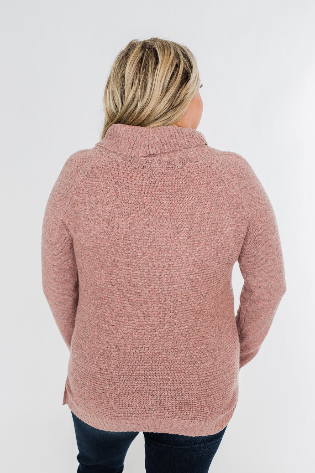 Oh Darling Cowl Neck Sweater- Dusty Mauve