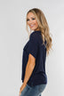 One Step Closer Lightweight Top- Navy