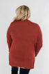 Light Weight Open Front Cardigan- Deep Poppy
