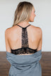 Pretty Lace Bralette- Black