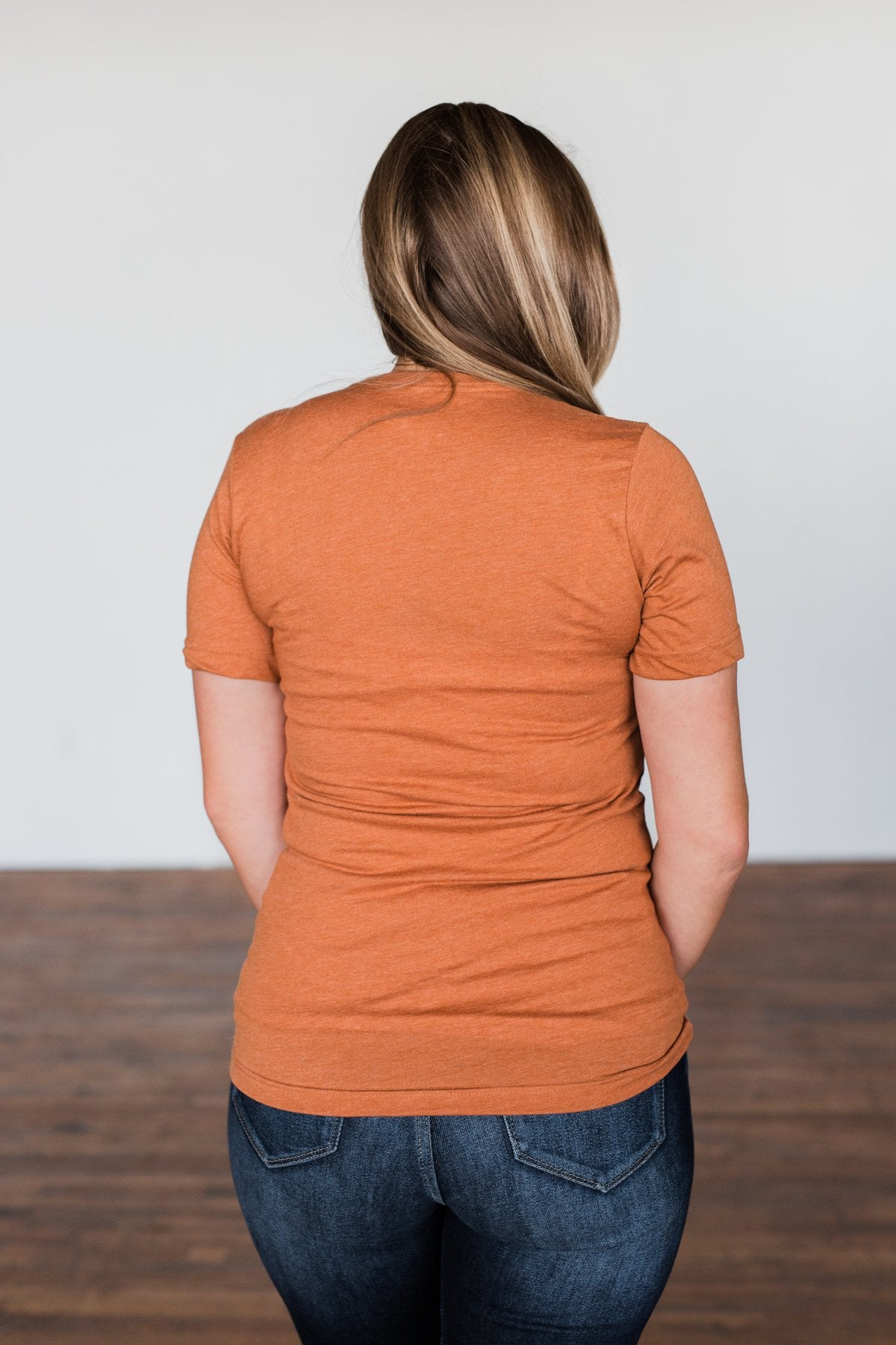 """Pumpkin Spice And Everything Nice"" Graphic Tee- Burnt Orange"