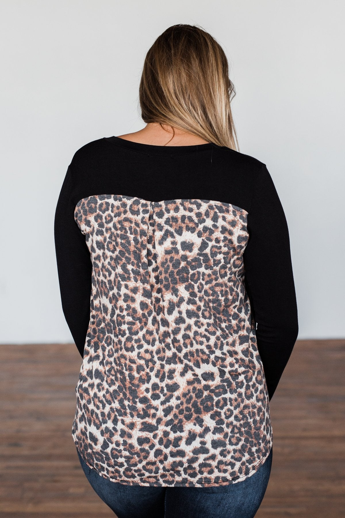 Life In The Wild Long Sleeve Top- Black