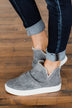 Very G Josie High Top Sneakers- Grey
