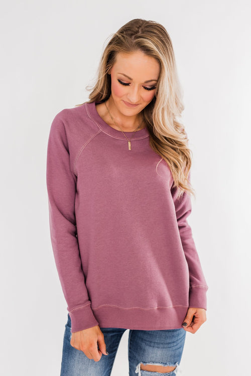 Pulse Basics Crew Neck Pullover- Orchid