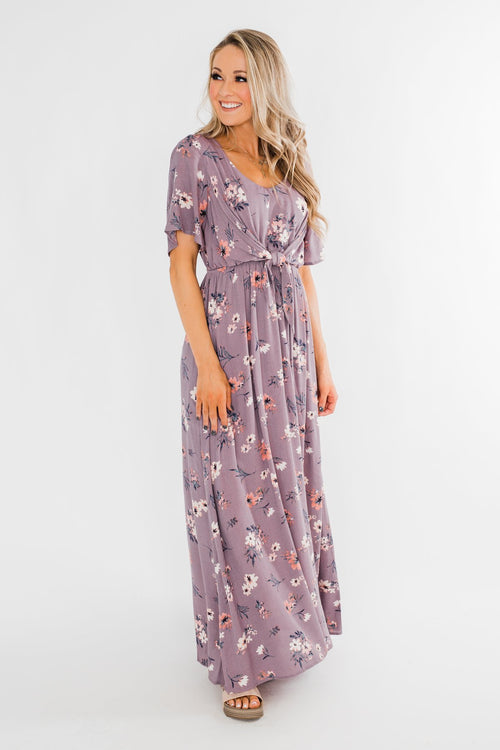 Holding Back This Feeling Cinch Maxi Dress- Lavender