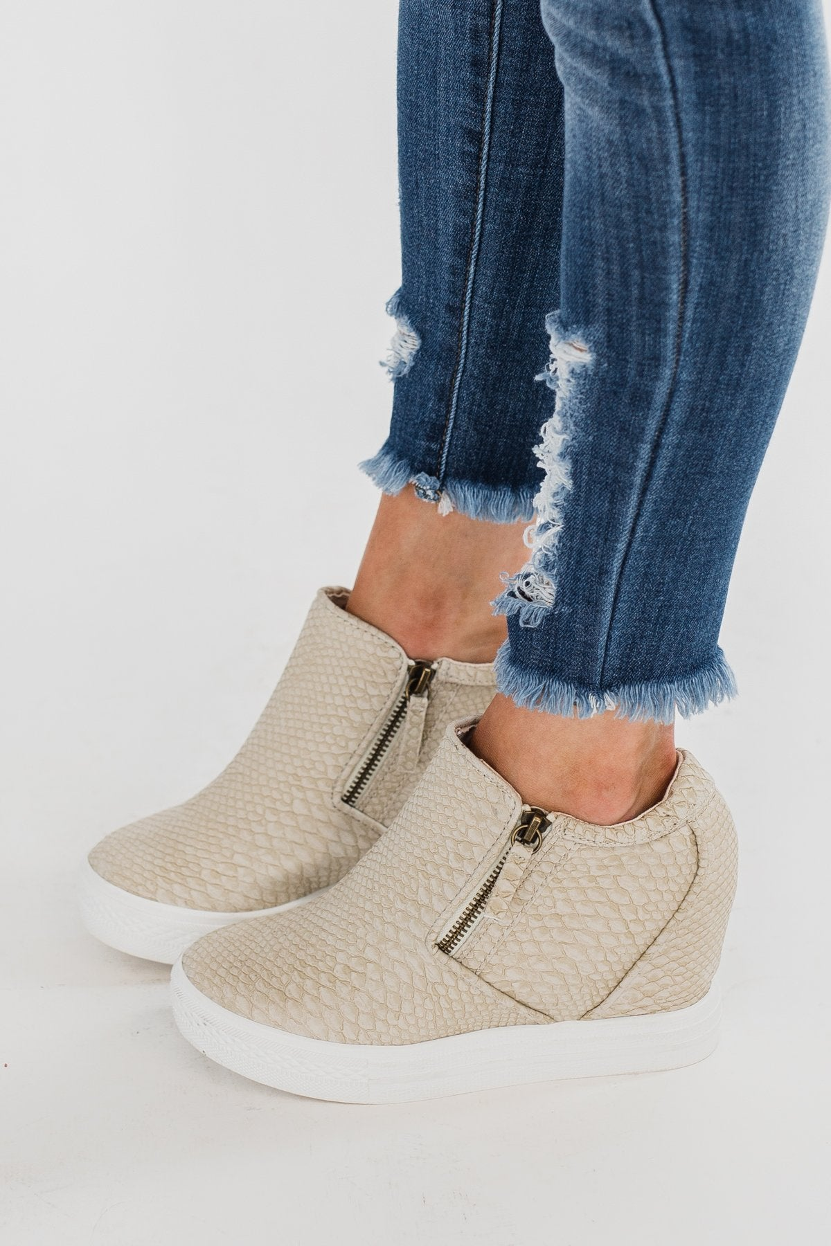 Not Rated Timmibelle Wedges- Cream