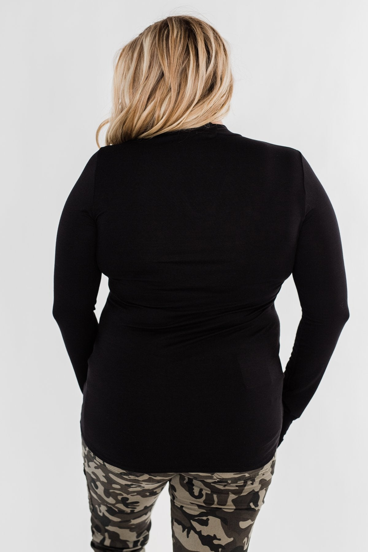 How Incredible Long Sleeve Top- Black