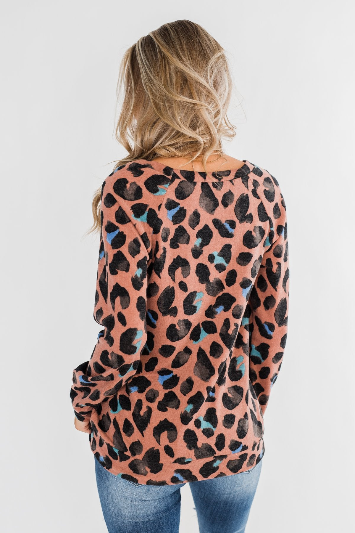 Eyes For Only You Leopard Top- Antique Rust & Black