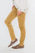 Rubberband Colored Skinny Jeans- Mustard