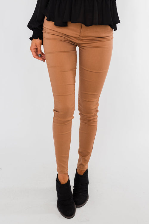 Celebrity Pink Ankle Skinny Jeans- Clay