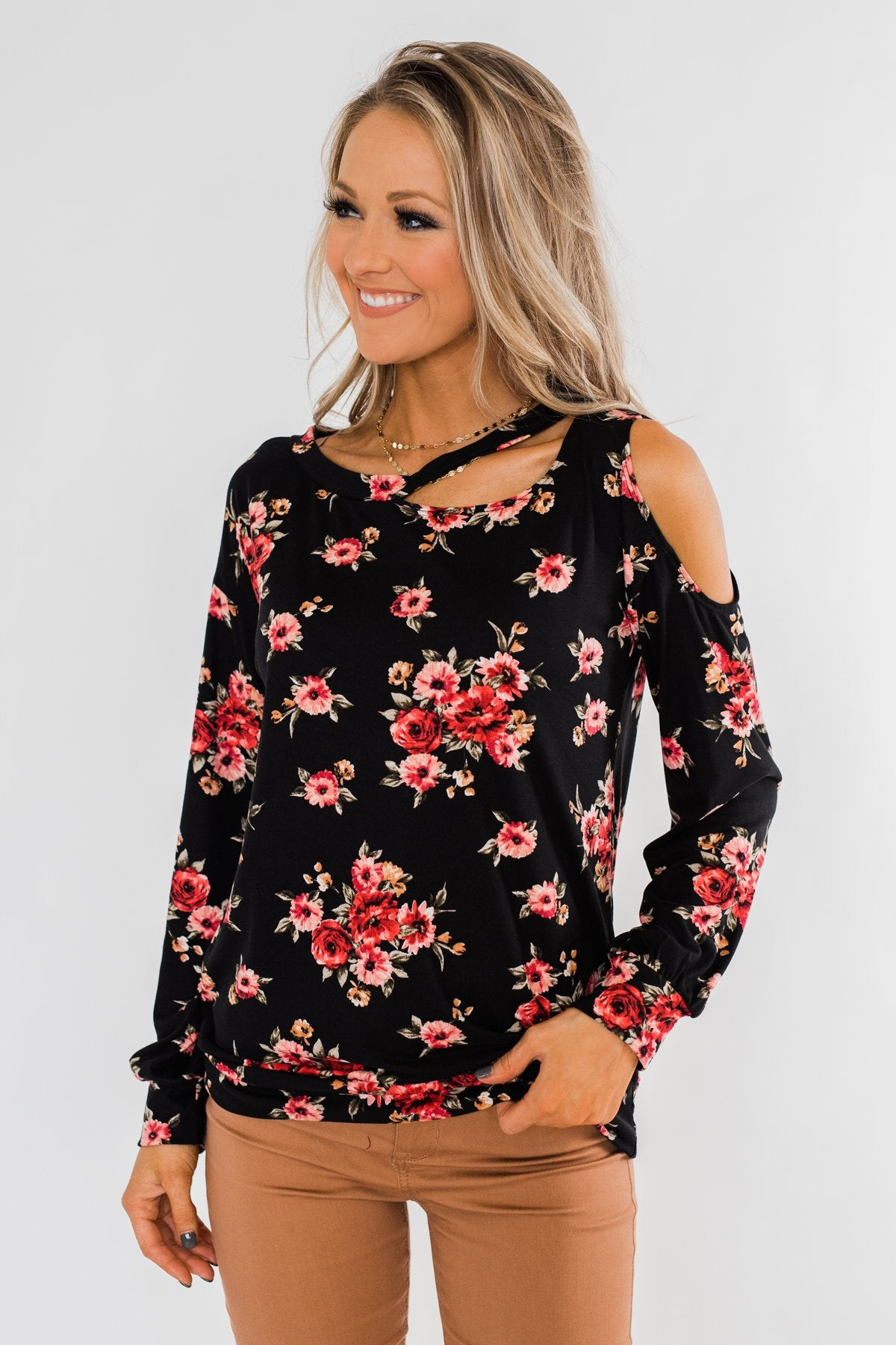 This Very Moment Floral Romper- Black